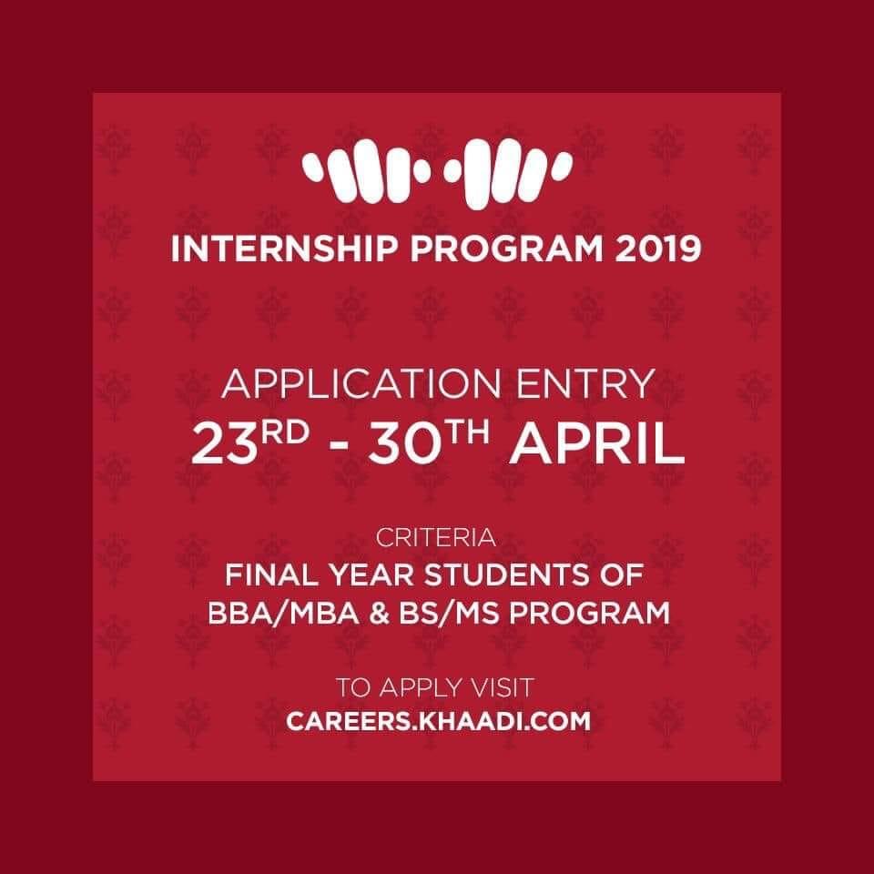 The Khaadi Internship Program