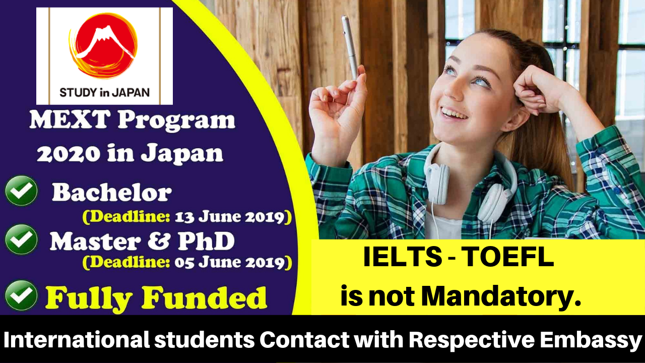 MEXT Japan Undergraduate Scholarships 2020 - Fully Funded - Study In Japan By Government of Japan