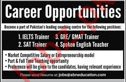 Teachers and Trainers Jobs in Islamabad 2019