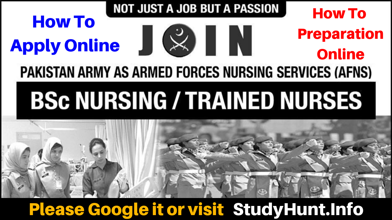 Join Pakistan Army after FSc as AFNS 2020 Armed Forces Nursing Service