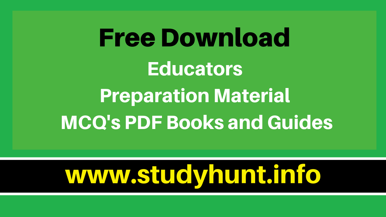 Free Download Educators Preparation Material MCQS PDF Books and Guides