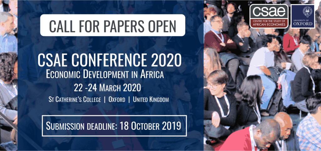 CSAE Conference China-Africa Economic Engagement at Oxford, UK 2020 [Fully Funded]