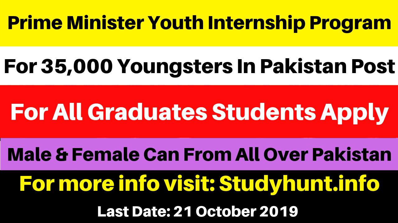 Prime Minister Youth Internship Program 2019 in Pakistan Post – 35,000 Vacancies