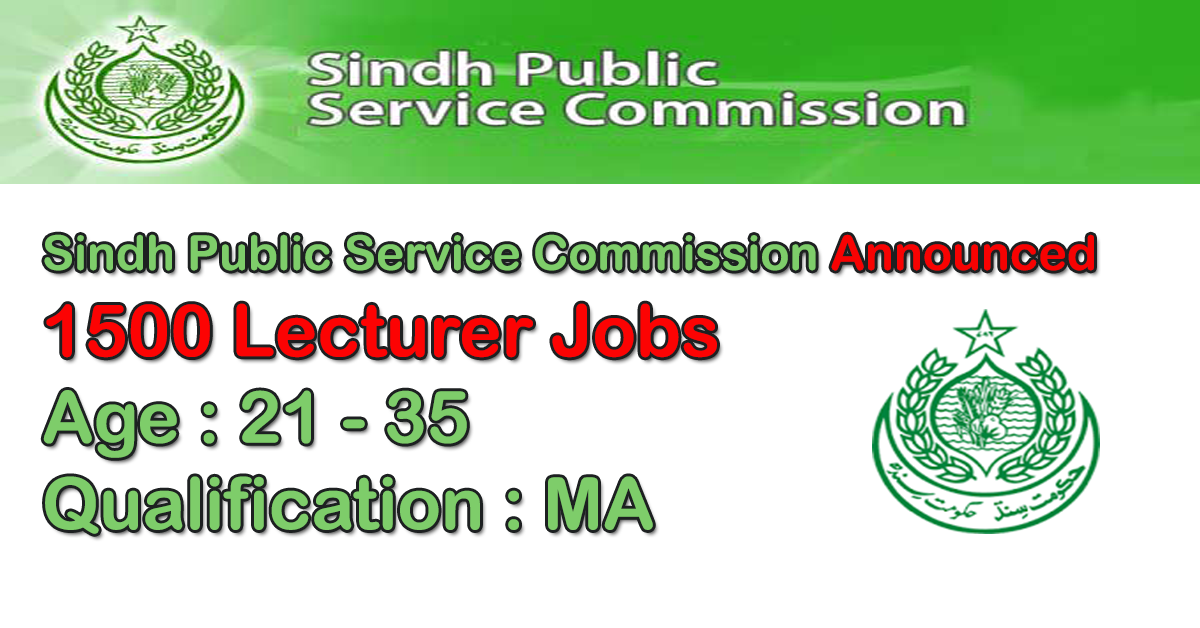 Lecturer Jobs in Sindh Public Service Commission (SPSC) 2019