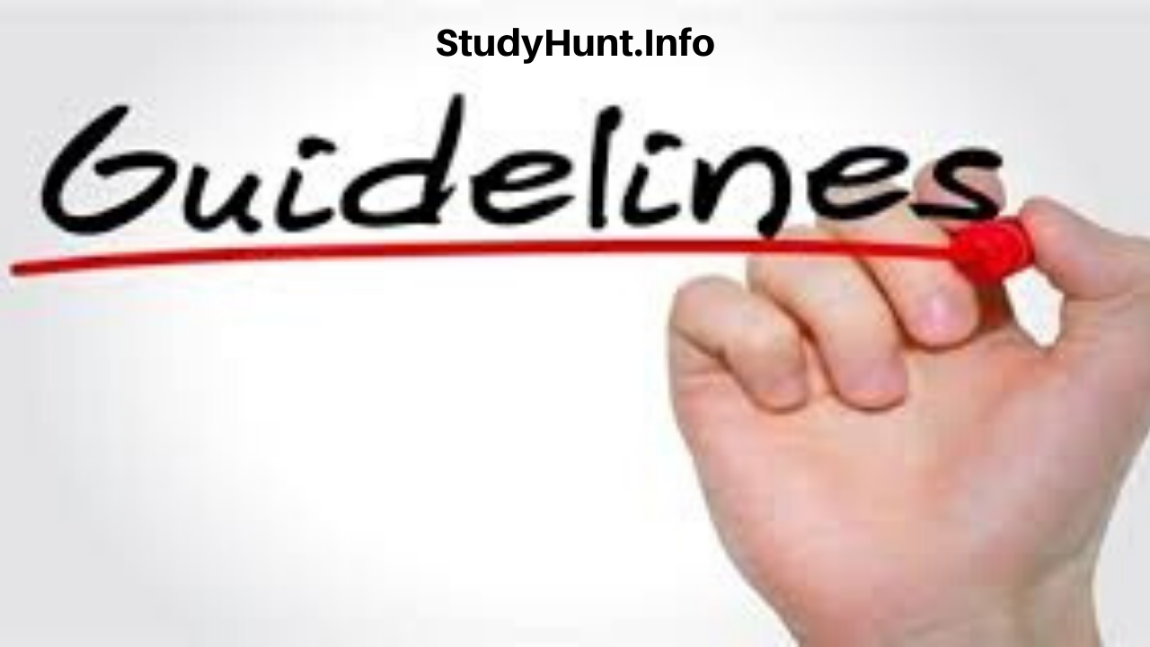 Guidelines for Undergraduates Students and Final Year students