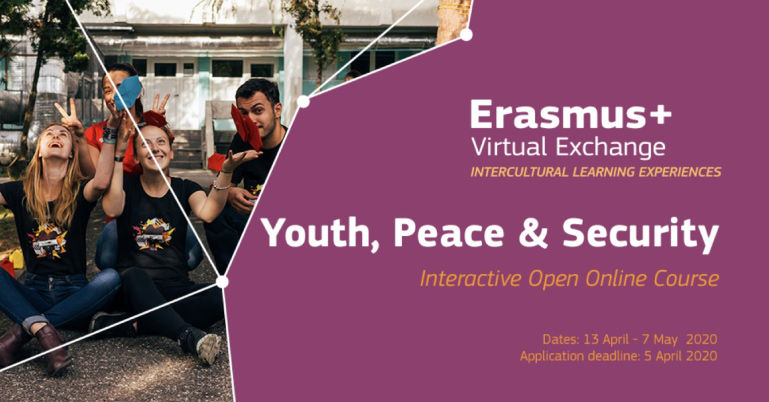 Erasmus+ Virtual Exchange - Free Online Course on Youth Peace and Security