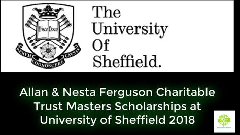Allan & Nesta Ferguson Charitable Trust Masters Scholarships