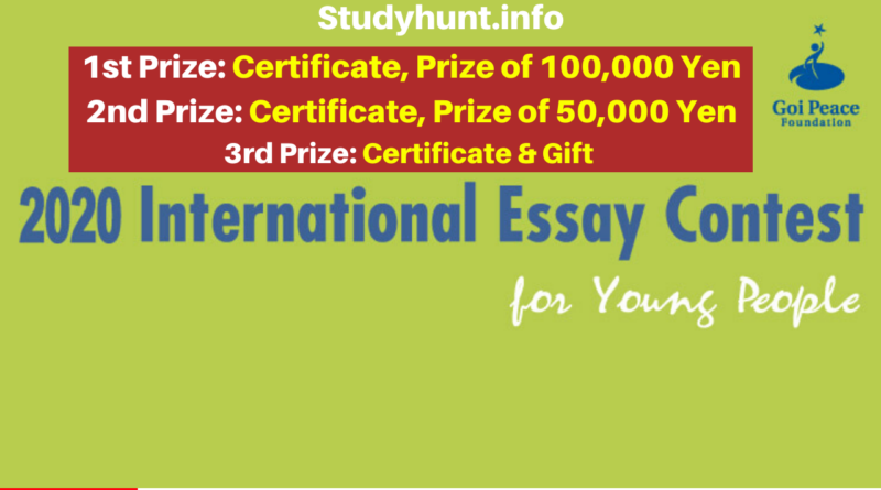 Goi Peace International Essay Contest 2020 – Free Trip to Japan