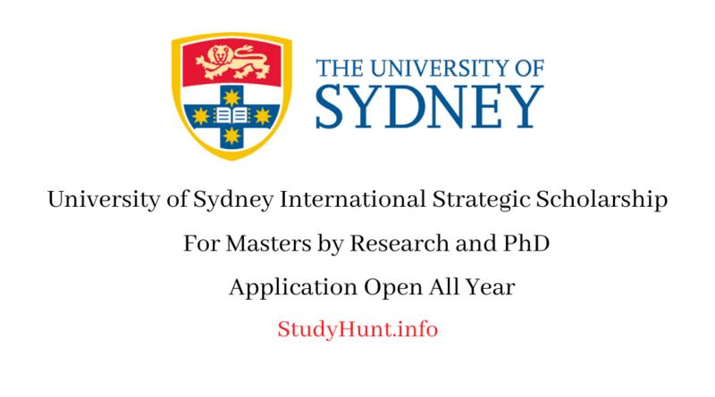 University of Sydney Scholarships For International Students