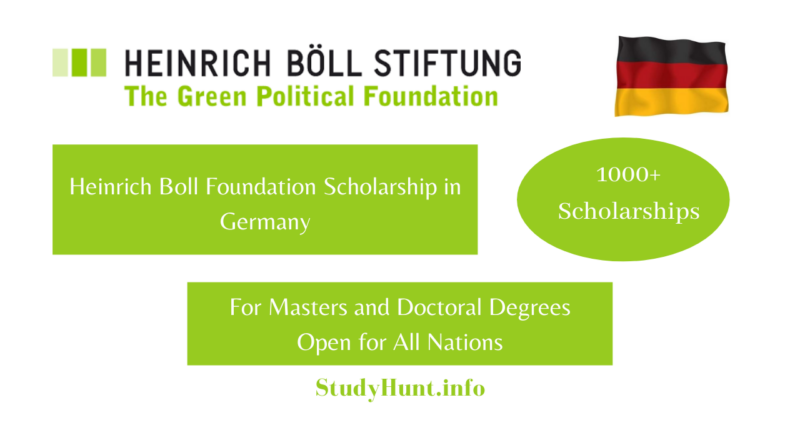 Heinrich Boll Foundation Scholarship in Germany