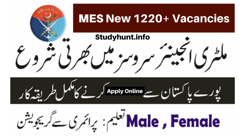 Military Engineering Services Jobs 2020 New 1220+ Vacancies