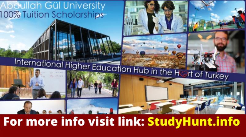 Undergraduate Student Tuition Scholarship at Abdullah Gül University Turkey