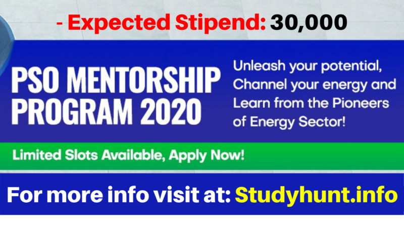 PSO Mentorship Program 2020 Apply Online