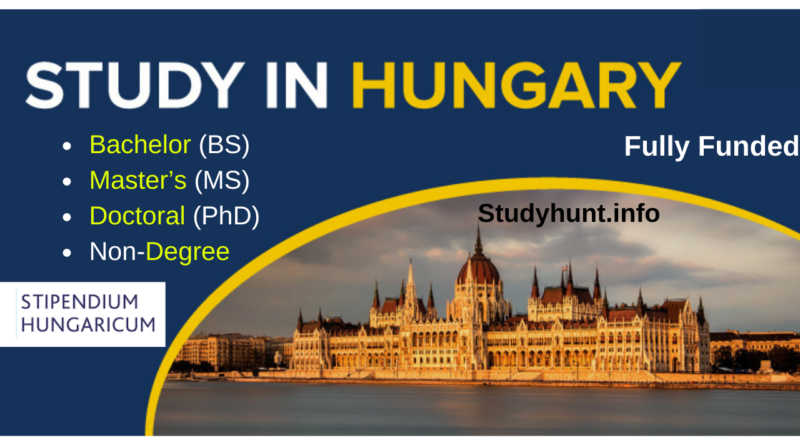 HEC Stipendium Hungaricum Scholarship 2021