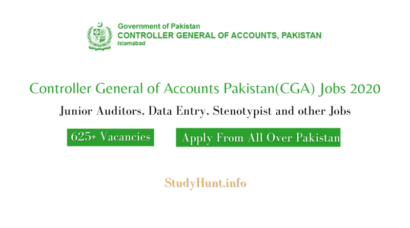 Controller General of Accounts Pakistan(CGA) Jobs 2020 | Junior Auditors| Application Form