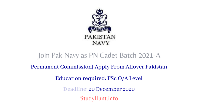 Join Pak Navy as PN Cadet Batch 2021-A