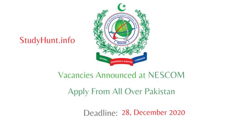 NESCOM Jobs December 2020