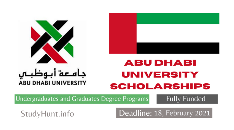 Abu Dhabi University Scholarships 2021