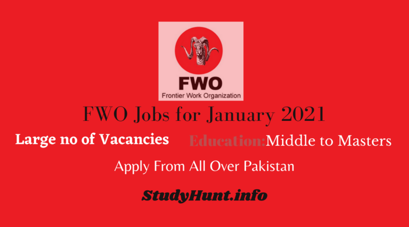 FWO Jobs for January 2021