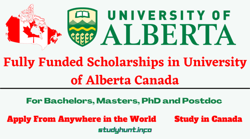 Scholarships in University of Alberta Canada for international students