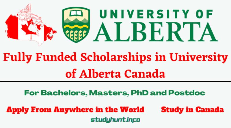 Scholarships in University of Alberta Canada for international students