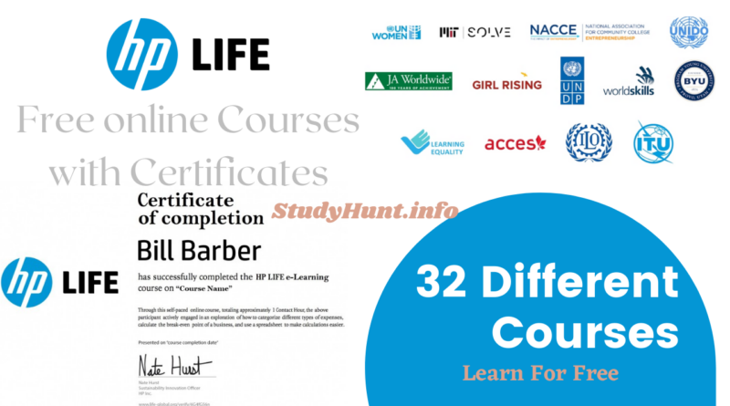 HP Life Free Online Courses with Free Certificates 2021