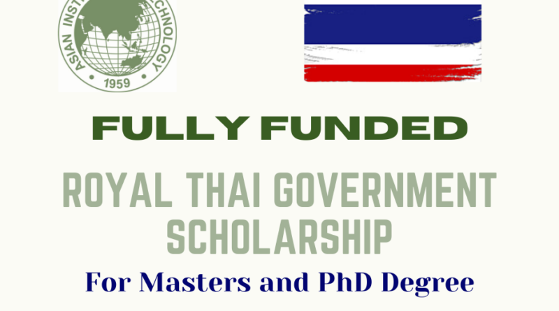 Royal Thai Government Scholarship 2021