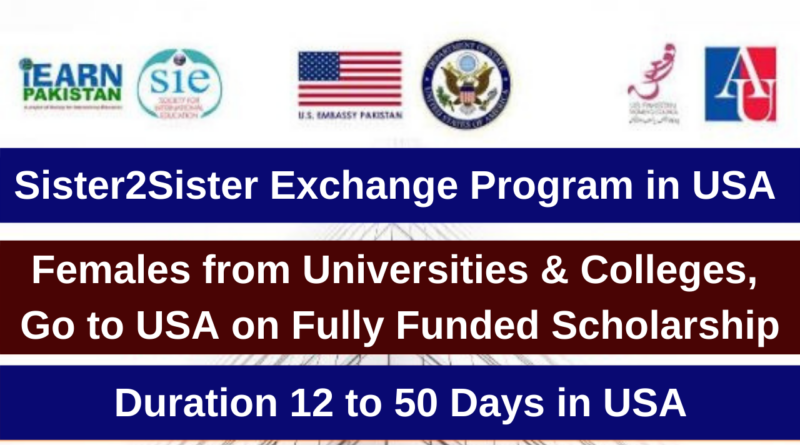 Sister2Sister Exchange Program in USA 2021 (Fully Funded)