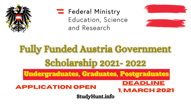 Austria Government Scholarship 2021- 2022