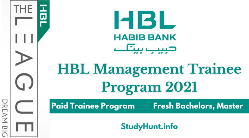 HBL League Management Trainee Program 2021