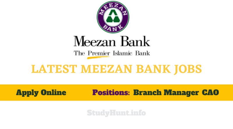 LATEST MEEZAN BANK JOBS 2021