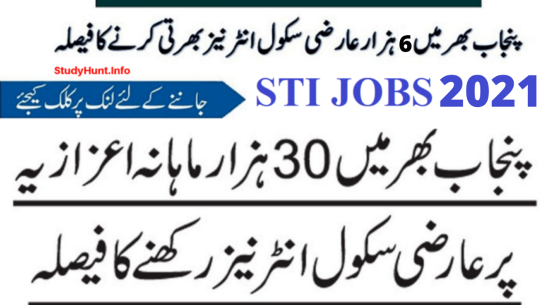 STI Jobs 2021 by Punjab Govt of Pakistan