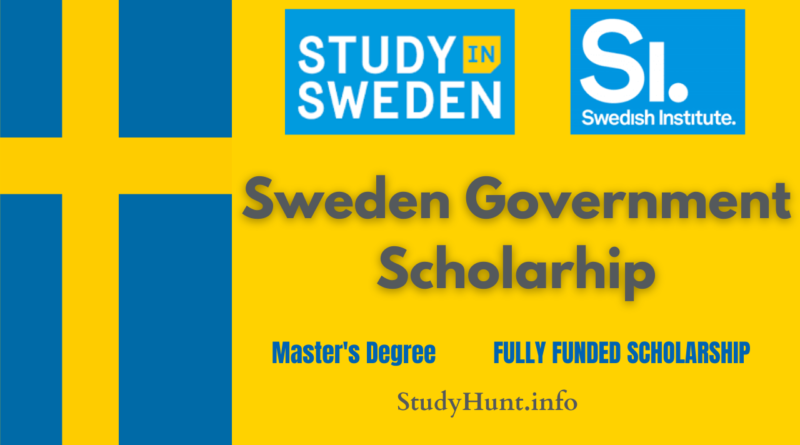 Sweden Government Scholarship 2022