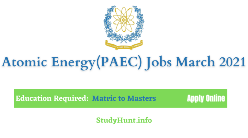 atomic energy jobs march 2021