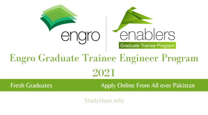 Engro Enablers Graduate Trainee Engineer Program 2021