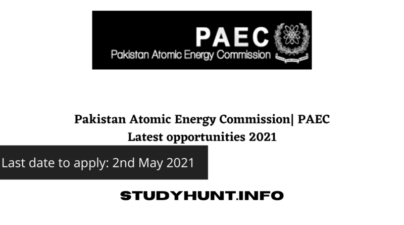 Pakistan Atomic Energy Commission| PAEC Latest opportunities 2021