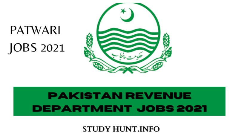 Pakistan Revenue department Patwari Jobs 2021