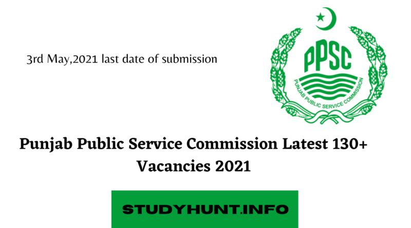 Punjab Public Service Commission|PPSC Jobs 2021