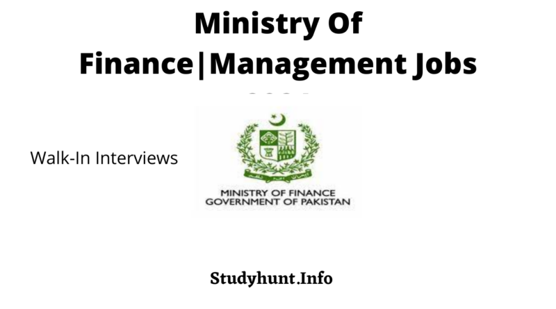 Ministry Of Finance|Management Jobs 2021