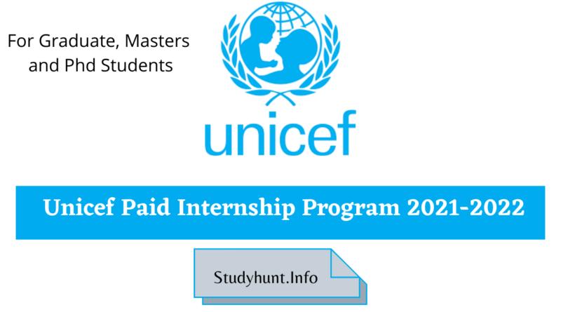 UNICEF PAID INTERNSHIP PROGRAM