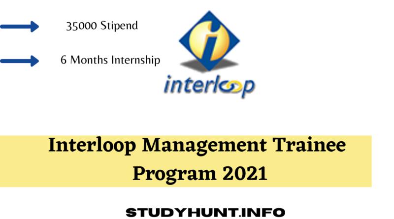 Interloop Management Trainee Program 2021