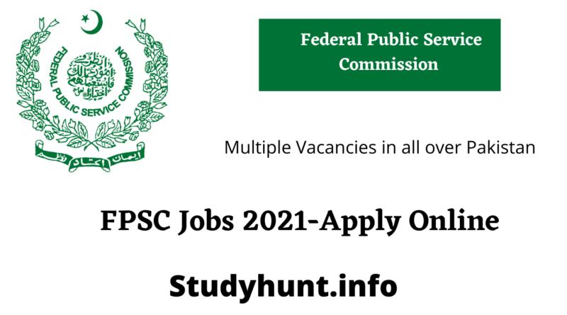 FPSC Jobs 2021-Apply Online Federal