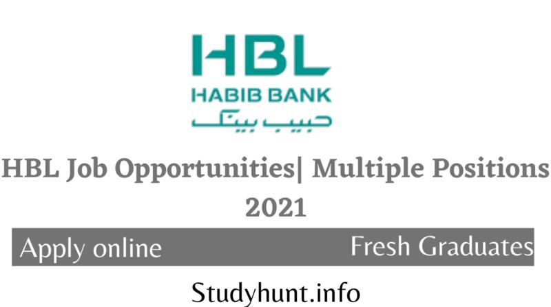 HBL Job Opportunities Multiple Positions 2021