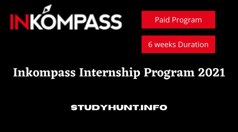 Inkompass Internship Program 2021