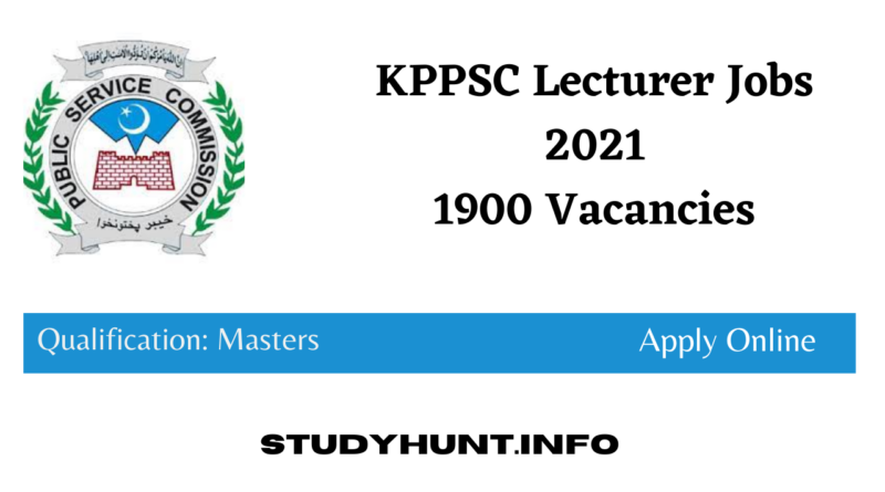 KPPSC Lecturer Jobs 2021