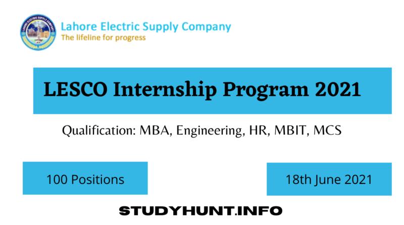 LESCO Internship 2021