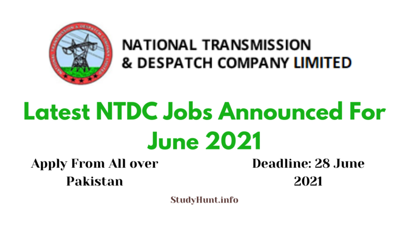 NTDC Jobs For June 2021