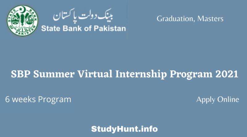 SBP Summer Virtual Internship Program 2021