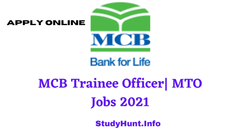 MCB Trainee Officer| MTO Jobs 2021