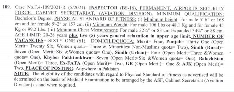 Airport security force jobs for inspector